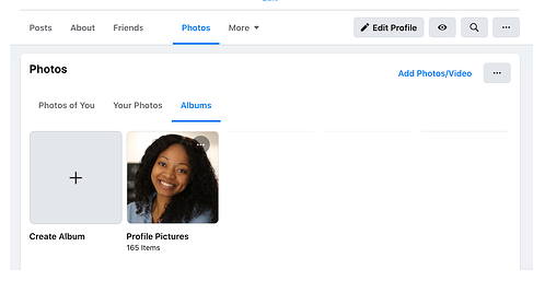 How to create a new photo or video album in Facebook