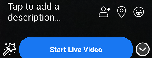 Screenshot of Facebook Start Live Video