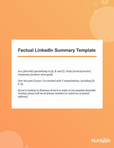 Download the LinkedIn factual summary template