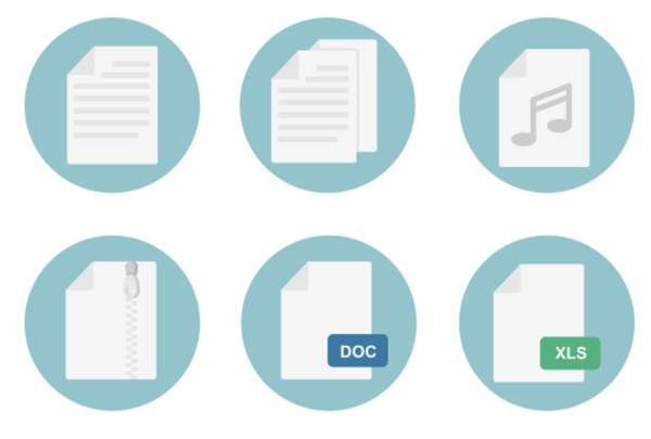 File types free icon set