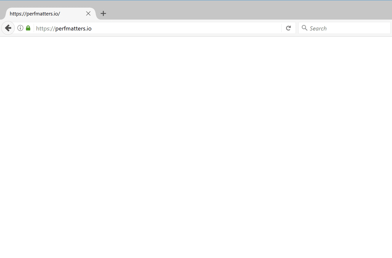 Firefox displaying WordPress white screen of death