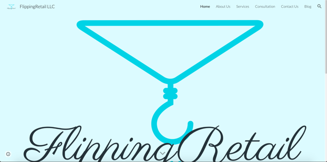 Flipping Retail is a Google Sites website example