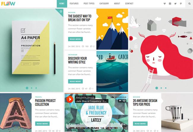 creative wordpress themes: Flow