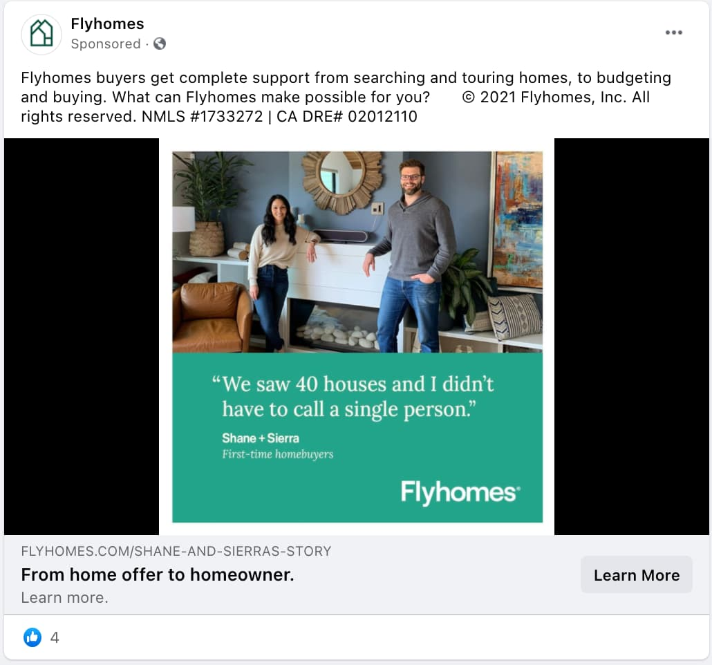 Flyhomes Real Estate Ad