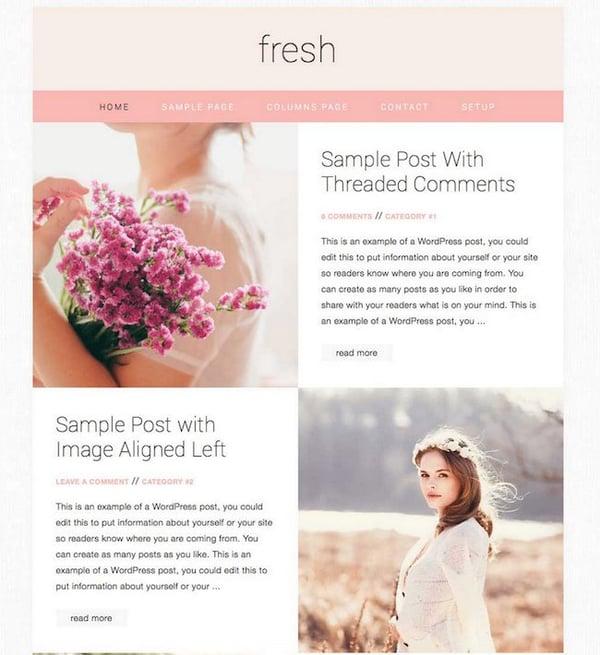 Free Genesis child theme Fresh homepage