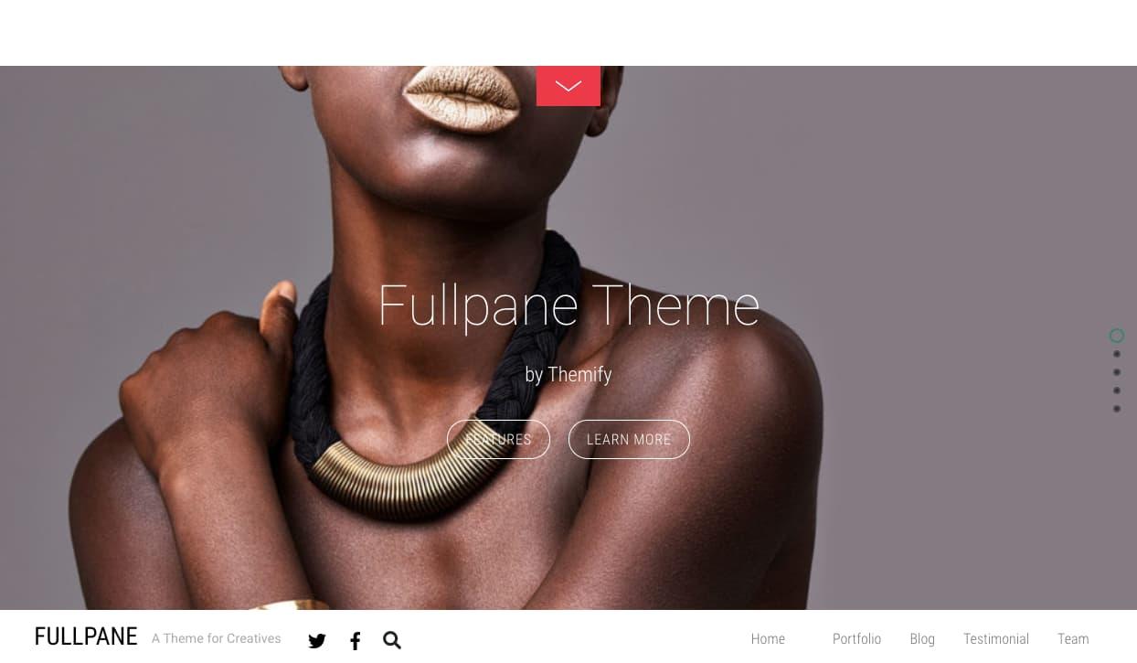 FullPane HTML5 WordPress theme demo