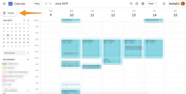 Google Calendar App Showing How to Create a New Event or Edit an Existing Event