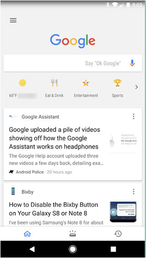 Original Google feed