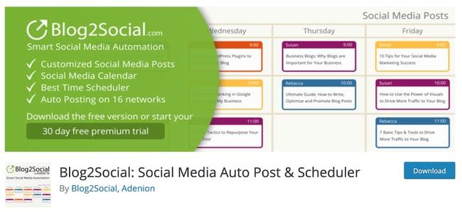 Facebook Plugin for WordPress - Blog2Social