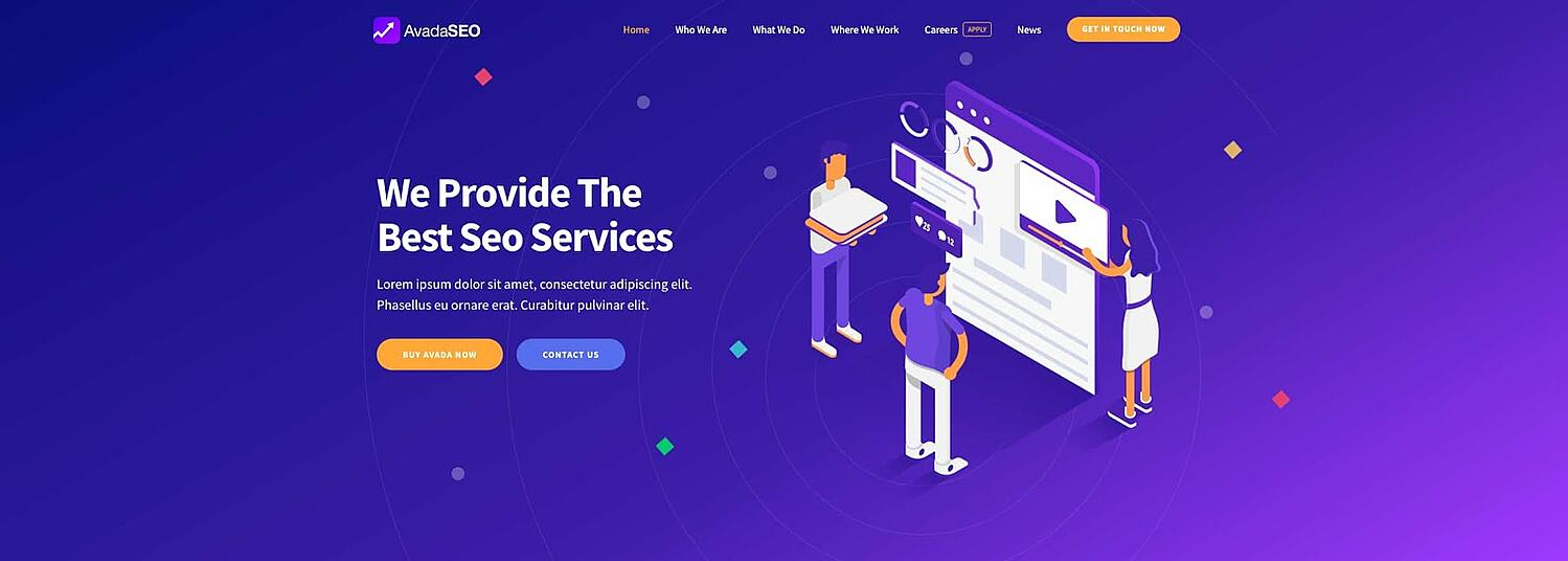 product page for the GDPR-compliant wordpress theme Avada