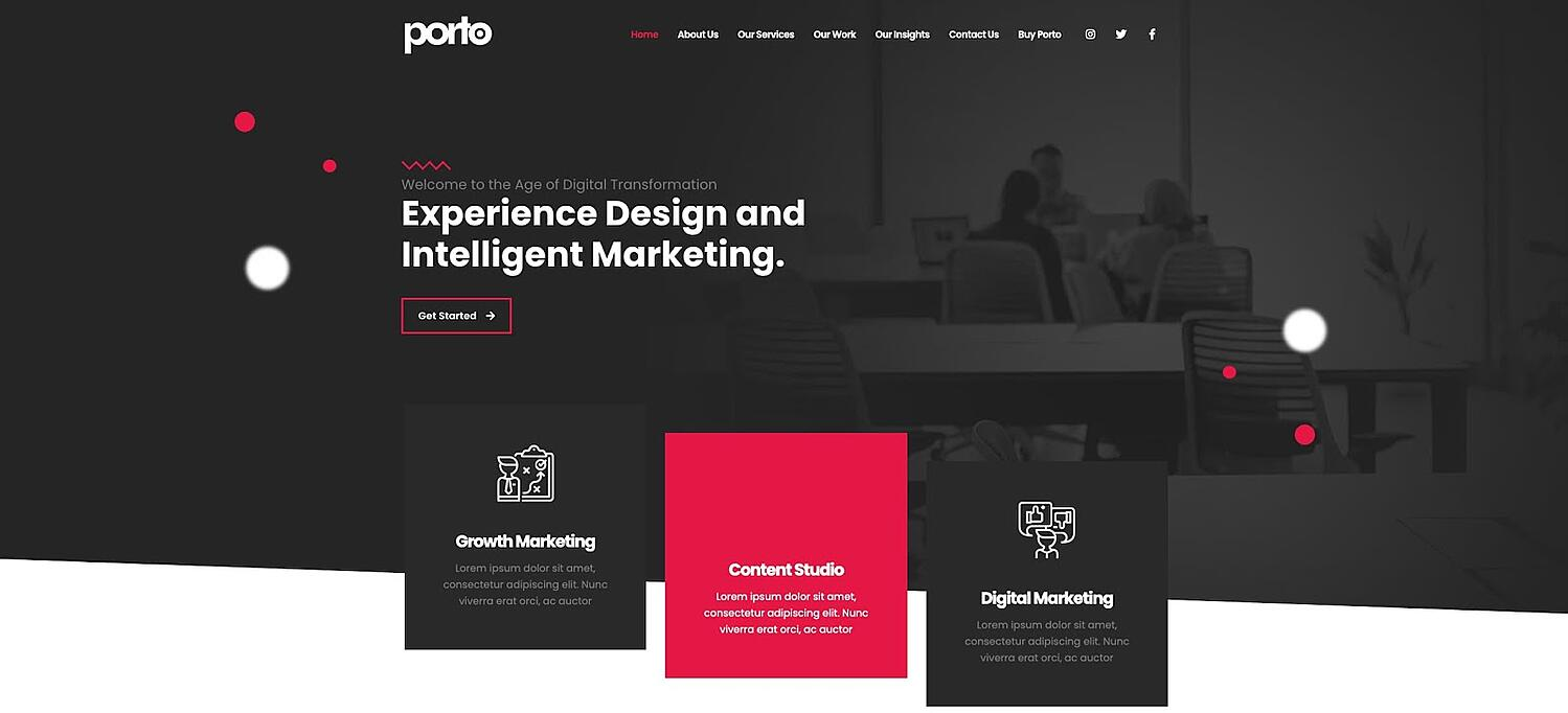 product page for the GDPR-compliant wordpress theme Porto