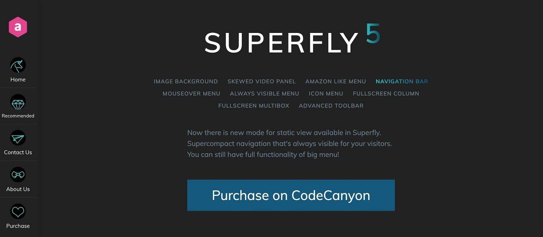 demo for the wordpress mega menu plugin superfly