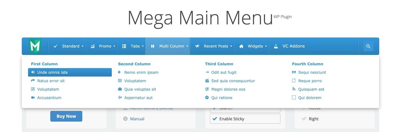 demo for the wordpress mega menu plugin mega main menu