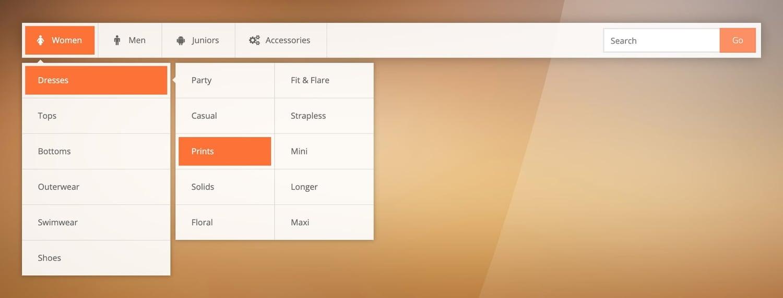 demo for the wordpress mega menu plugin sky mega menu