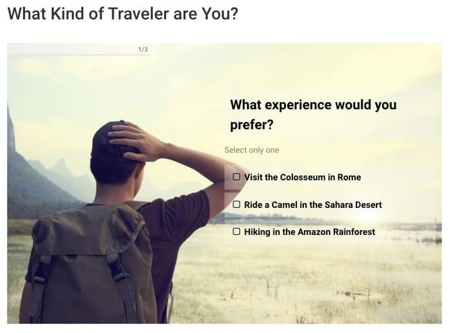Personality quiz created with Advisor Quiz plugin for WordPress