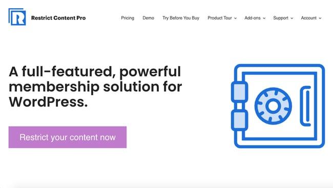 WordPress membership plugin: Restrict Content Pro