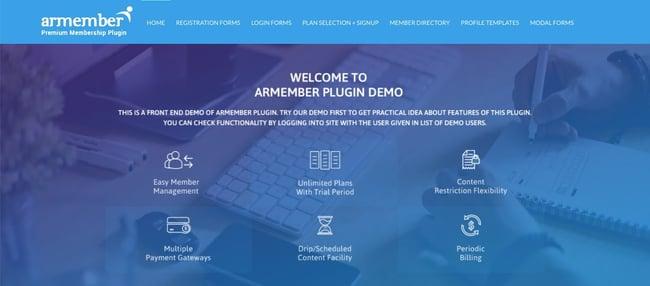 WordPress membership plugin: ARMember