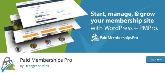 WordPress membership plugin: Paid Memberships Pro