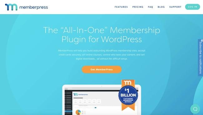 WordPress membership plugin: MemberPress