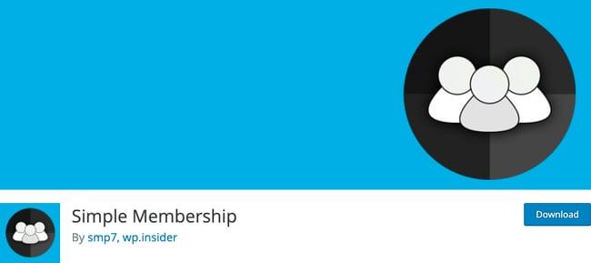WordPress membership plugin: Simple Membership