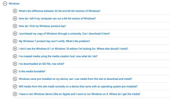 best FAQ pages: Microsoft