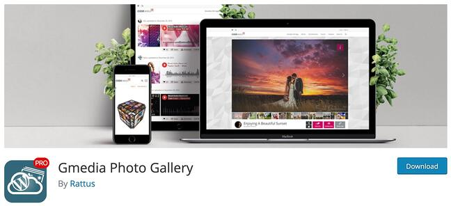 product page for the wordpress gallery plugin gmedia