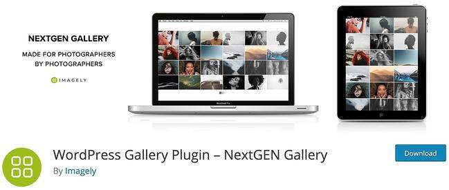 product page for the wordpress gallery plugin nextgen gallery