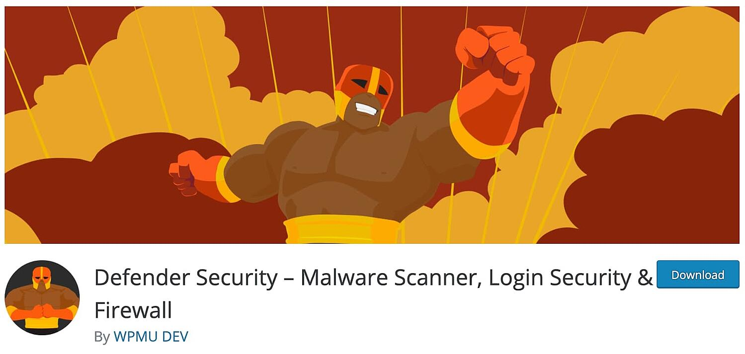 listing page for the WordPress security plugin Defender