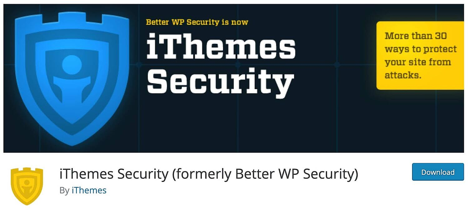 listing page for the WordPress security plugin iThemes Security