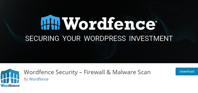 listing page for the WordPress security plugin Wordfence