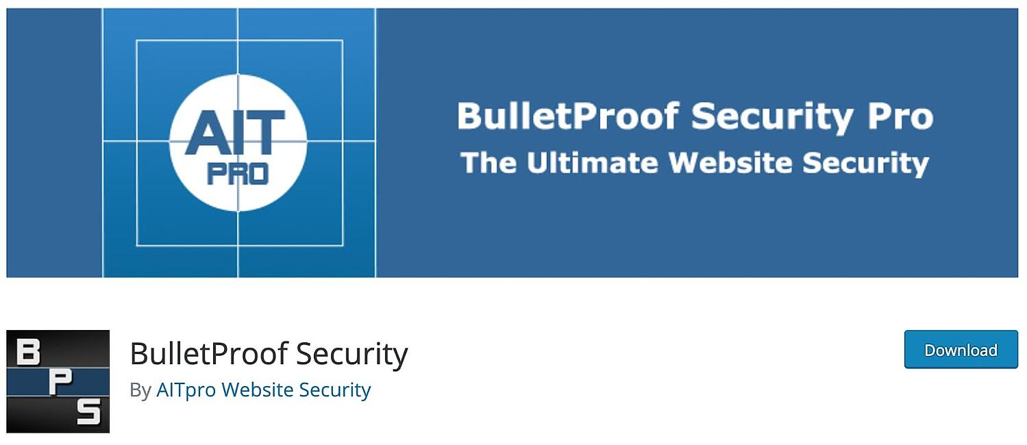 listing page for the WordPress security plugin BulletProof Security