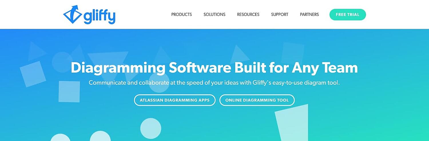 product page for the wireframe tool Gliffy