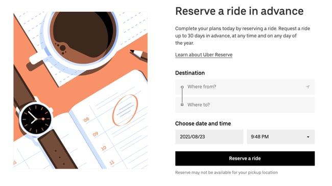 sem-flat elements in modern web design by uber