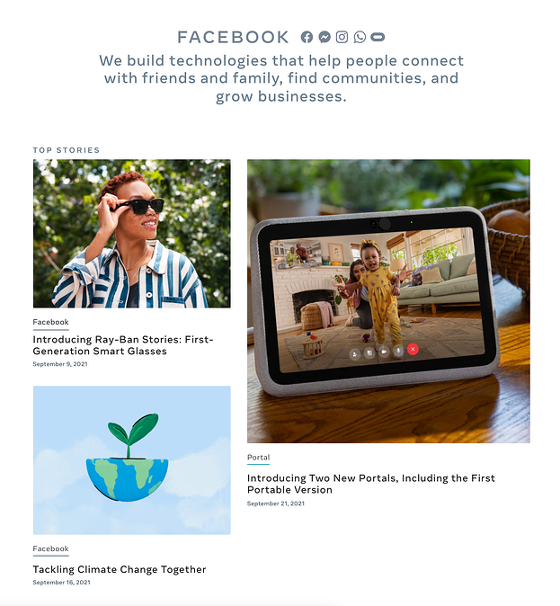 Elements of the Perfect Press Page Design: Facebook