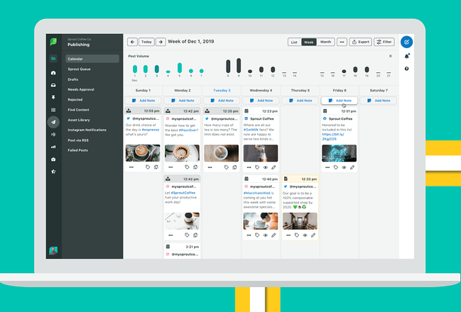 social media calendar tools: SproutSocial