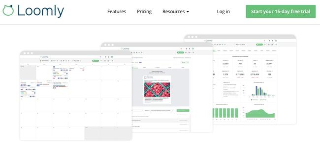 social media calendar tools: Loomly