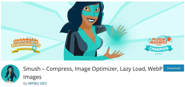 the WordPress plugin Smush in the plugin marketplace