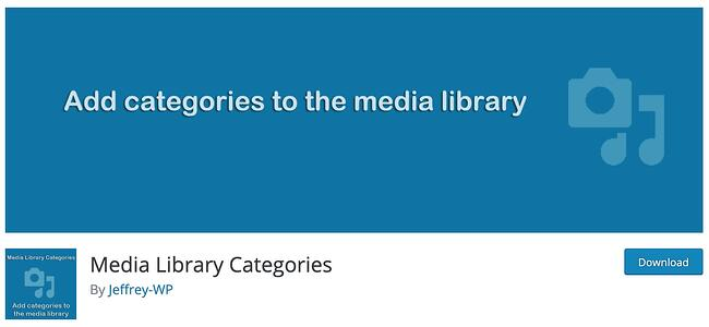 download page for the wordpress media management plugin media library categories