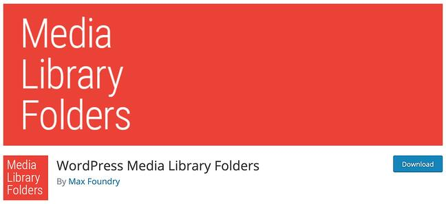 download page for the wordpress media management plugin media library folders