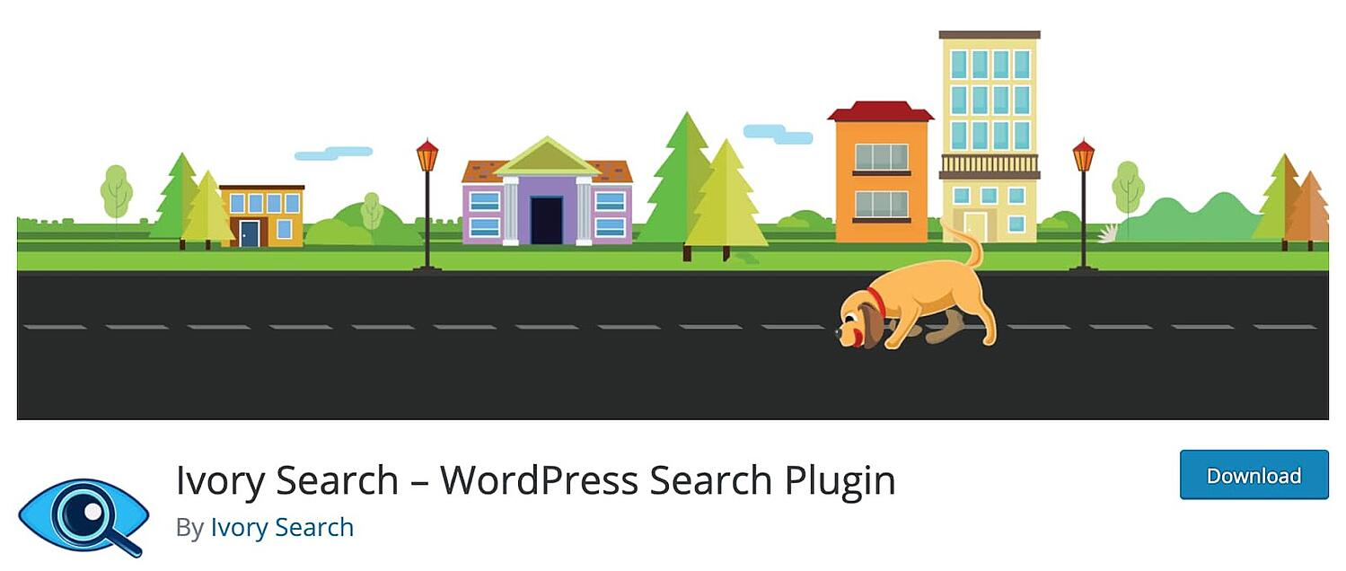 web page for the WordPress search plugin Ivory Search