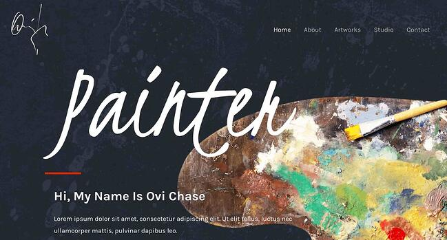preview for the artist WordPress theme Astra