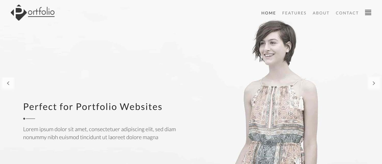 preview for the artist WordPress theme Portfolio