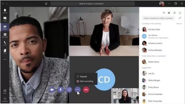 Microsoft Teams Online Meeting Software