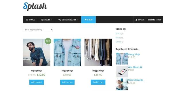 demo page for the amazon affiliate wordpress theme splash