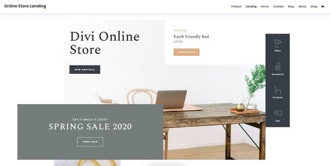demo page for the amazon affiliate wordpress theme divi