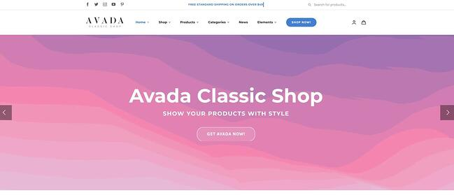 demo page for the amazon affiliate wordpress theme avada
