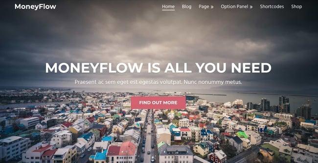 demo page for the amazon affiliate wordpress theme moneyflow