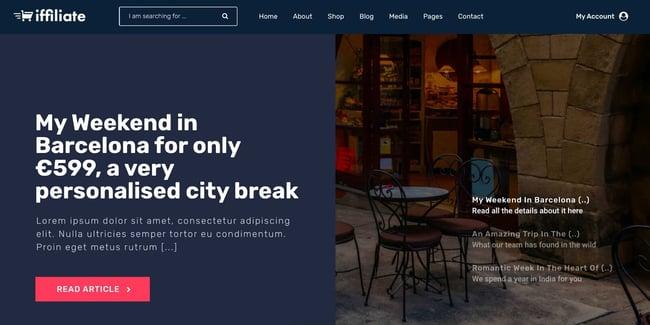 demo page for the amazon affiliate wordpress theme iffiliate