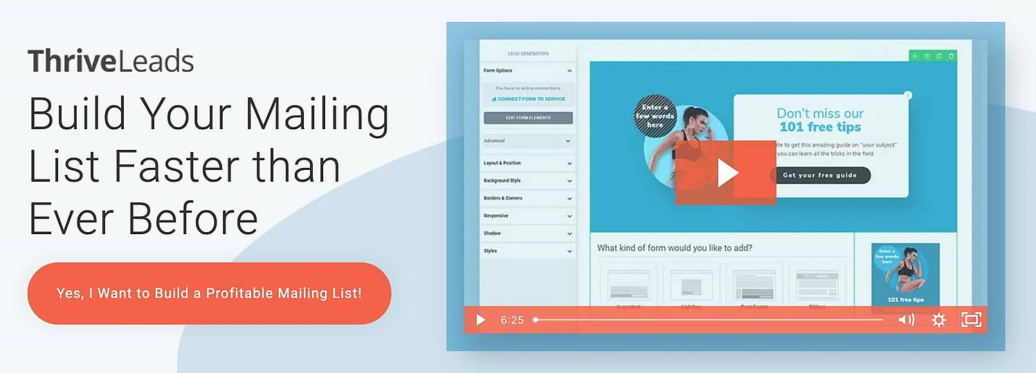 product page for the WordPress call to action plugin Thrive LEads