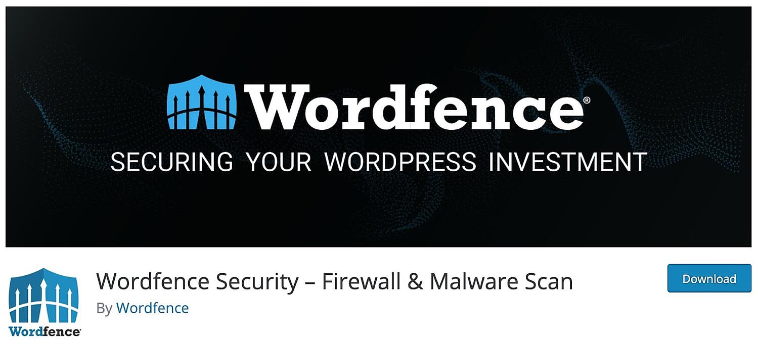 product page for the wordpress multisite plugin Wordfence